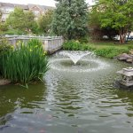 Beautiful landscaped gardens visible from Nautilus in Norfolk.  Free parking and no charge to wa
