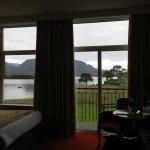 Balcony room overlooking lake