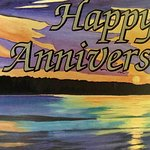 Anniversary card from Couples Resort and staff