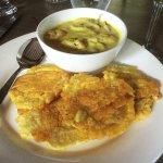 Seafood Curry and Plantains