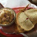 Super BLT and potato salad.