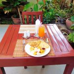 Pancake Breakfast with Juice and Fruit ($3.50)