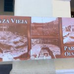 photos in square showing views before restoration