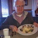 Dave and his seafood pasta dish...so yummy!