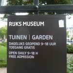 Rijksmuseum: Sign for the garden