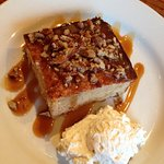 Apple Cake with Caramel Sauce and Whipped Cream