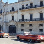 Classic cars in the old town