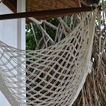 Sitting hammock in the patio