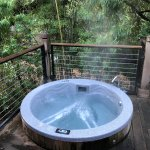 Hot Tub outside the bedroom on the deck
