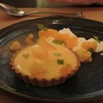 Lemon curd and mandarin tart
