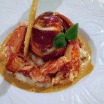 Risotto de homard à la sétoise, tuile de parmesan