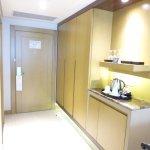 Hall / wardrobe space / mini bar & kettle