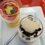 verrines (fruit) en dessert