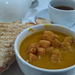 Butternutsquash soup & toastie