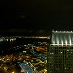 View from Top of the Hyatt bar at night