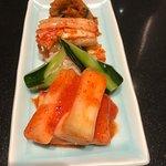 Fresh, vibrant kimchi veggies.