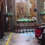 Vista del altar durante la misa