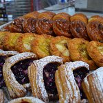 Selection of danishes and croissants baked fresh daily
