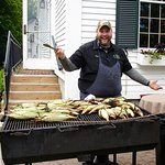 Executive Chef Troy Mains mans the BBQ for Sunday Brunch!