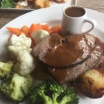 Lovely Sunday roast and hunters chicken good value for money all fresh ingredients
