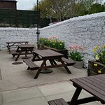 Tasty , scrumptious food. Lovely surroundings and doggies welcome in charming beer garden.