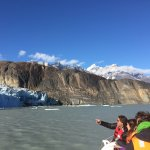 Wind, whiskey, and selfies on boat trip to Lago Grey glacier.