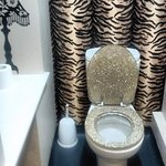 A rather opulent ladies' loo