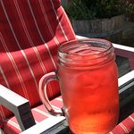 Iced tea made from fine loose-leaf tea.  Refreshing!