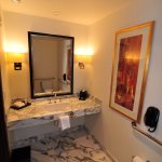 Powder room in suite
