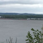 barges heading up river