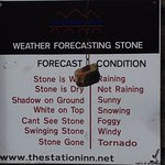 The amusing weather forecasting stone