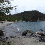 Looking back at Anse Chastenet while on the path towards Anse Mamin