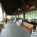 Covered Porch with plenty of seating