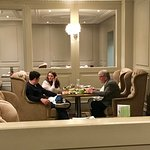 Comfy seating at restauraant