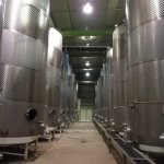 Tanks holding 55K and 94K quarts of wine to ferment.