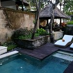 Private pool and gazebo of one bedroom villa