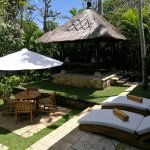 Gazebo and garden, 2 bedroom villa