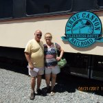 Tom & Janis...ready for the train ride and Johnny Cash 'train' songs