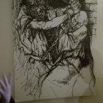 in una delle celle, un quadro di Guttuso