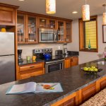 Every suite has its own fully equipped kitchen