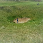 A pretty tough fairway bunker at the 6th hole at Lahinch | Concierge Golf Ireland
