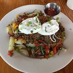 Short Rib Hash w/2 Poached Eggs