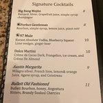 Signature Cocktail menu