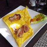 Omelette réalisé à la demande pour le petit déjeuner