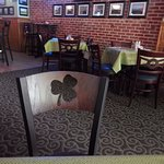 even the chair has a shamrock