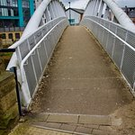 Pedestrian bridge short walk to city centre