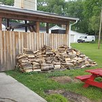 Wood pile outside