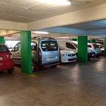 El estacionamiento