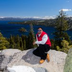 Hiking the trails overlooking Emerald Bay which leads into Lake Tahoe