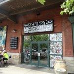 Entrance Doors of the Against The Grain Restaurant